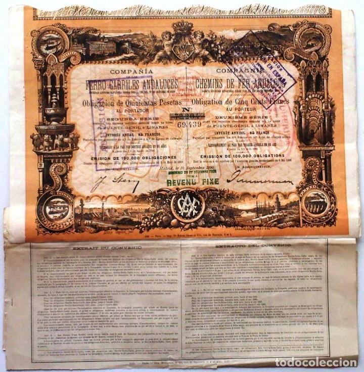 FERRO-CARRILES ANDALUCES (Coleccionismo - Acciones Españolas)