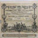 Coleccionismo Acciones Españolas: COMPAÑÍA DEL FERROCARRIL TRASVERSAL DEL PRINCIPADO DE CATALUÑA, 1883. Lote 116704503