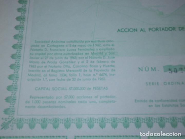 Coleccionismo Acciones Españolas: ACCION COMPAÑIA URBANIZADORA NUESTRA SEÑORA DEL MAR MENOR ( URMENOR, S.A.) 1965 - Foto 3 - 116809715