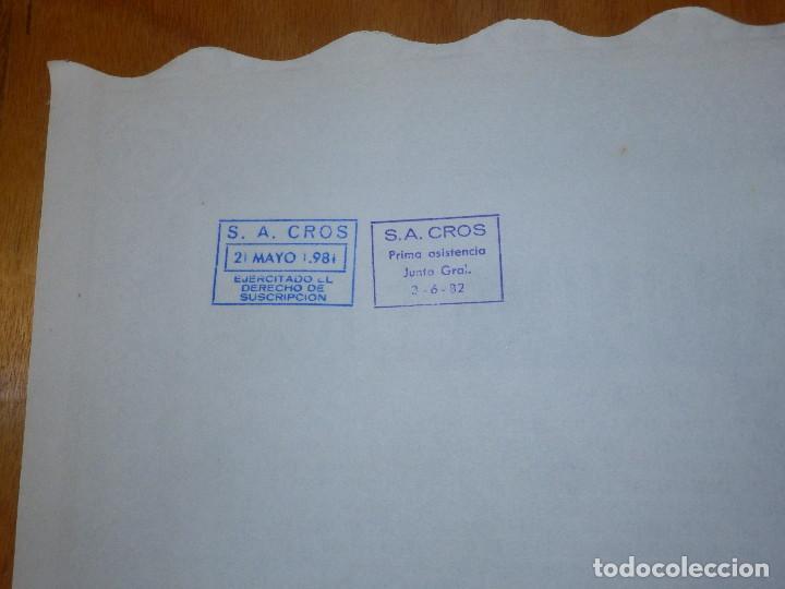 Coleccionismo Acciones Españolas: ANTIGUA ACCION SOCIEDAD ANÓNIMA CROS. - AGRÍCOLA - BARCELONA 1964 - MUY BONITA. - Foto 4 - 116809763