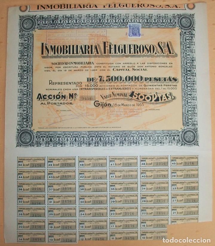 Coleccionismo Acciones Españolas: Lote de 4 acciones de Asturias: Gijón y Trubia (Oviedo) - Foto 2 - 117995935