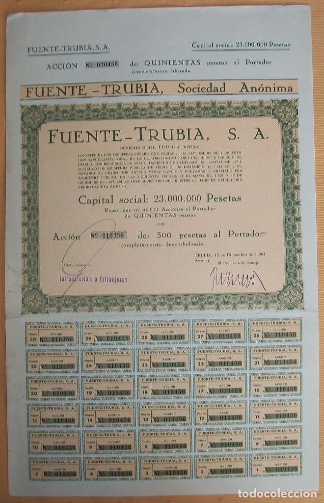 Coleccionismo Acciones Españolas: Lote de 4 acciones de Asturias: Gijón y Trubia (Oviedo) - Foto 3 - 117995935