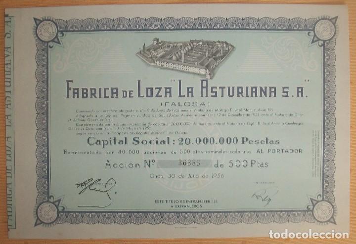 Coleccionismo Acciones Españolas: Lote de 4 acciones de Asturias: Gijón y Trubia (Oviedo) - Foto 5 - 117995935