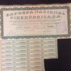 Coleccionismo Acciones Españolas: EMPRESA NACIONAL SIDERURGICA SA 1957. Lote 145949146