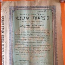 Coleccionismo Acciones Españolas: S.E.M. NUEVA THARSIS- CARTAGENA- AYORA- VALENCIA 1.903. Lote 149970236