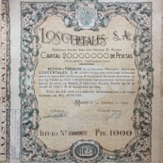 Collezionismo Azioni Spagnole: ACCIÓN LOS CERTALES,S.A.(1947).. Lote 122794470