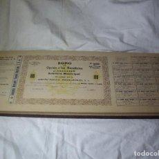 Coleccionismo Acciones Españolas: COMPAÑIA MERCANTIL HISPANO AMERICANA - LIBRO 100 BONOS - 1915. Lote 125884255