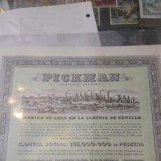 Coleccionismo Acciones Españolas: 1980 PICKMAN CIA ACCIONES 500 PTAS. Lote 126472895