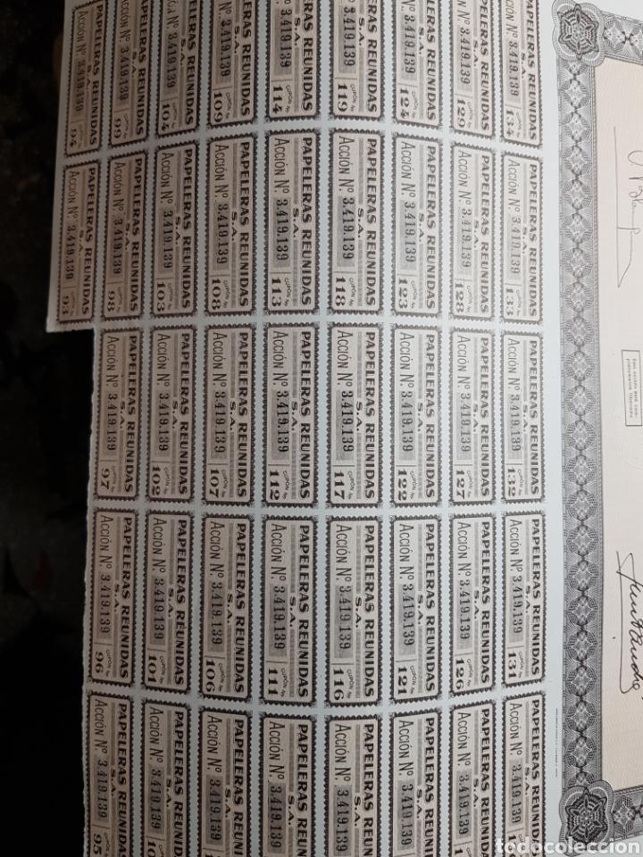 Coleccionismo Acciones Españolas: Accion de propiedad lote 3 Papeleras Reunidas - Foto 2 - 127545254