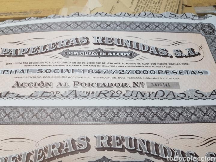 Coleccionismo Acciones Españolas: Accion de propiedad lote 3 Papeleras Reunidas - Foto 5 - 127545254