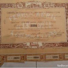 Coleccionismo Acciones Españolas: COMPAÑIA DE FERROCARRIL DE AMOREBIETA A GUERNICA Y LUNO 1888. Lote 128059539