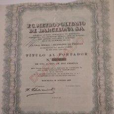 Coleccionismo Acciones Españolas: F.C. METROPOLITANO DE BARCELONA S.A. 1923. Lote 129299875