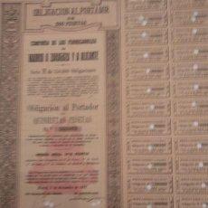 Coleccionismo Acciones Españolas: COMPAÑIA DE LOS FERROCARRILES DE MADRID A ZARAGOZA Y A ALICANTE SERIE H 1923. Lote 129454583