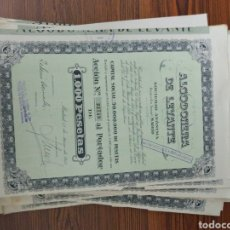 Coleccionismo Acciones Españolas: 208. 43 ACCIONES. ALGODONERA DE LEVANTE. MADRID. 1952. Lote 130780529