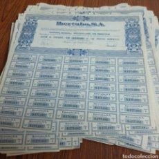 Coleccionismo Acciones Españolas: 228.BIS. 104 ACCIONES. IBERTUBO. S.A. MADRID 1975. Lote 130793012