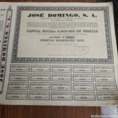 Coleccionismo Acciones Españolas: 282. 48 ACCIONES DE JOSÉ DOMINGO. 1976. Lote 130839355