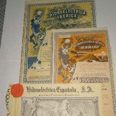 Coleccionismo Acciones Españolas: LOTE 3 ACCIONES HIDROELECTRICA. Lote 131466726