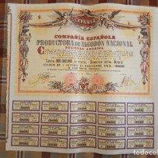 Coleccionismo Acciones Españolas: ACCIÓN AÑO 1966 COMPAÑIA ESPAÑOLA PRODUCTORA DE ALGODON NACIONAL (CEPANSA). Lote 132768650