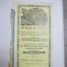 Coleccionismo Acciones Españolas: ACCIONES DE LA SOCIEDAD ANÓNIMA. EL NORTE DE CASTILLA. 6.000 ACCIONES DE 500 PTAS. VALLADOLID 1941. Lote 133511622
