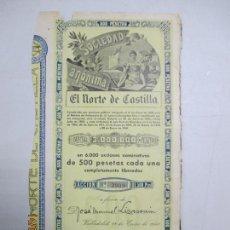 Coleccionismo Acciones Españolas: ACCIONES DE LA SOCIEDAD ANÓNIMA. EL NORTE DE CASTILLA. 6.000 ACCIONES DE 500 PTAS. VALLADOLID 1941. Lote 133511934