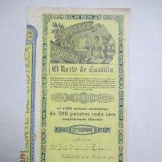 Coleccionismo Acciones Españolas: ACCIONES DE LA SOCIEDAD ANÓNIMA. EL NORTE DE CASTILLA. 6.000 ACCIONES DE 500 PTAS. VALLADOLID 1941. Lote 133511942