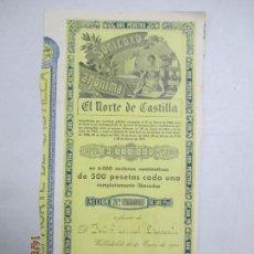 Coleccionismo Acciones Españolas: ACCIONES DE LA SOCIEDAD ANÓNIMA. EL NORTE DE CASTILLA. 6.000 ACCIONES DE 500 PTAS. VALLADOLID 1941. Lote 133511954