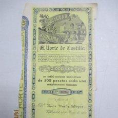 Coleccionismo Acciones Españolas: ACCIONES DE LA SOCIEDAD ANÓNIMA. EL NORTE DE CASTILLA. 6.000 ACCIONES DE 500 PTAS. VALLADOLID 1941. Lote 133511998