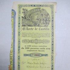 Coleccionismo Acciones Españolas: ACCIONES DE LA SOCIEDAD ANÓNIMA. EL NORTE DE CASTILLA. 6.000 ACCIONES DE 500 PTAS. VALLADOLID 1941. Lote 133512086