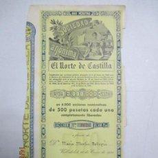 Coleccionismo Acciones Españolas: ACCIONES DE LA SOCIEDAD ANÓNIMA. EL NORTE DE CASTILLA. 6.000 ACCIONES DE 500 PTAS. VALLADOLID 1941. Lote 133512098