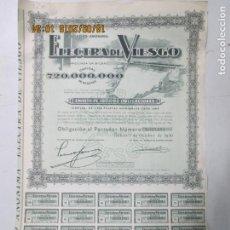 Coleccionismo Acciones Españolas: ACCIONES DE LA SOCIEDAD ANÓNIMA ELECTRA DE VIESGO. BILBAO 1956. ACCIONES DE 500 PESETAS. Lote 133607522
