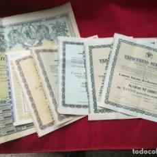 Coleccionismo Acciones Españolas: LOTE DE 7 ACCIONES ESPAÑOLAS . Lote 134221730
