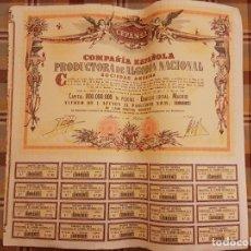Coleccionismo Acciones Españolas: CEPANSA COMPAÑIA ESPAÑOLA PRODUCTORA DE ALGODON NACIONAL ACCION 1966. Lote 135794298