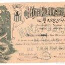 Coleccionismo Acciones Españolas: ACCIÓN MODERNISTA DE MINA PÚBLICA DE AGUAS DE TERRASSA AÑO 1896 - . Lote 136011774