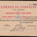 Coleccionismo Acciones Españolas: OBLIGACIÓN CAMARA DE COMERCIO DE REUS - PARA LA FUNDACIÓN EN EL AÑO 1887 ----EXCEPCIONAL----. Lote 136499906