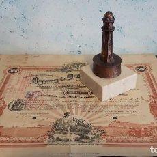 Coleccionismo Acciones Españolas: LOTE ACCIÓN AGUAS DE BARCELONA Y TROFEO DEL TORREÓN, TORRE DOSRIUS. Lote 138666406