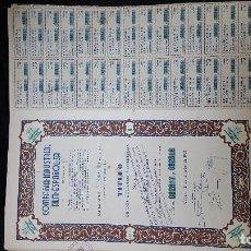 Coleccionismo Acciones Españolas: HOJA DE ACCIONES DE CIFESA CON TREINTA CUPONES 1951. Lote 139684914