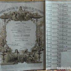 Coleccionismo Acciones Españolas: ACCION DE LA COMPAÑIA GENERAL DE TABACOS DE FELIPINAS 1961. Lote 140015382