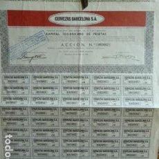 Coleccionismo Acciones Españolas: ACCION CERVEZAS BARCELONA. Lote 140021126