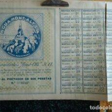 Coleccionismo Acciones Españolas: ACCION DE AGUA MONT-ALT . Lote 140027182