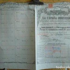 Coleccionismo Acciones Españolas: ACCION DE LA ESPAÑA INDUSTRIAL . Lote 140030638