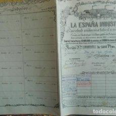 Coleccionismo Acciones Españolas: ACCION LA ESPAÑA INDUSTRIAL 1931. Lote 140035542