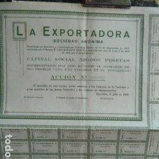 Coleccionismo Acciones Españolas: ACCION LA EXPORTADORA S,A,. Lote 140037122