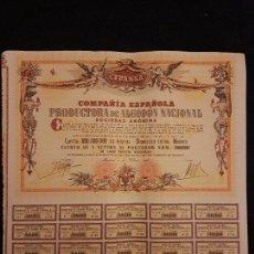 Coleccionismo Acciones Españolas: COMPAÑIA ESPAÑOLA PRODUCTORA DE ALGODON NACIONAL CEPANSA. Lote 140807426