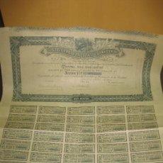 Coleccionismo Acciones Españolas: ACCION SOCIEDAD FORESTAL ESPAÑOLA. BARCELONA 4 DE ENERO DE 1905. CON CUPONES.. Lote 141006610