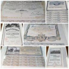 Coleccionismo Acciones Españolas: LOTE 6 ACCIONES Y OBLIGACIONES REPRODUCCIONES. Lote 142948061
