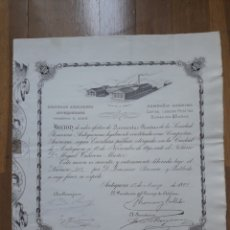 Colecionismo Ações Espanholas: SOCIEDAD AZUCARERA ANTEQUERANA, INGENIO S. JOSÉ (ANTEQUERA, MÁLAGA) 1892. Lote 143999290