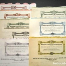 Coleccionismo Acciones Españolas: LOTE DE 11 ACCIONES ORIGINALES DIFERENTES. HIDROELÉCTRICA DE CATALUÑA, S.A. DESDE 1951 HASTA 1985.. Lote 146118826