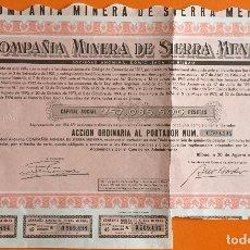 Coleccionismo Acciones Españolas: ACCION- COMPAÑIA MINERA DE SIERRA MENERA- BILBAO 1.976. Lote 146113026