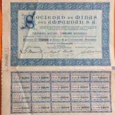 Coleccionismo Acciones Españolas: ACCION- SOCIEDAD DE MINAS DEL AMPURDAN- BARCELONA 1923. Lote 146113254