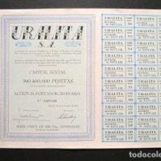 Coleccionismo Acciones Españolas: ACCIÓN URALITA S.A. MADRID, 1971. . Lote 154985565